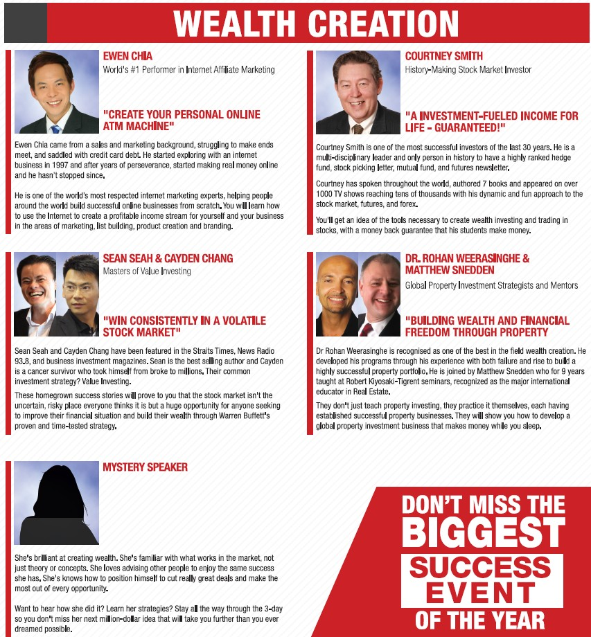 NAC Wealth Creation Speakers