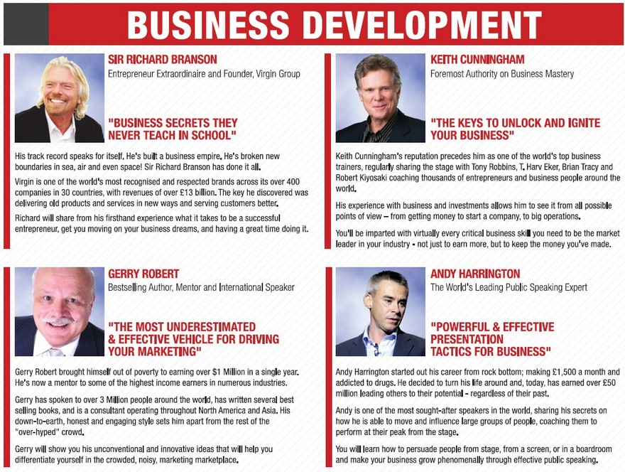 NAC business development speakers